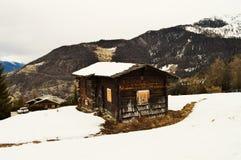 Villaggio di Tzoumaz della La, una tettoia Fotografia Stock Libera da Diritti