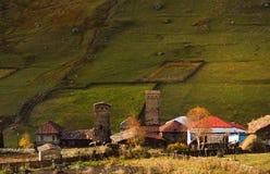 Villaggio di Ushguli Caucaso, Svaneti superiore - sito del patrimonio mondiale dell'Unesco georgia Fotografia Stock Libera da Diritti