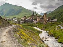Villaggio di Ushguli Europa, Caucaso, Georgia Fotografie Stock Libere da Diritti