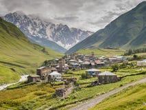 Villaggio di Ushguli Europa, Caucaso, Georgia Immagini Stock