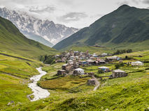 Villaggio di Ushguli Europa, Caucaso, Georgia Fotografia Stock Libera da Diritti