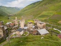 Villaggio di Ushguli Europa, Caucaso, Georgia Fotografie Stock