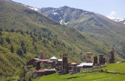 Villaggio di Ushguli. Svaneti superiore. Georgia. Fotografia Stock Libera da Diritti