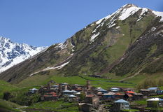 Villaggio di Ushguli. Svaneti superiore. Georgia. Fotografie Stock Libere da Diritti