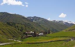 Villaggio di Ushguli. Svaneti superiore. Georgia. Fotografia Stock