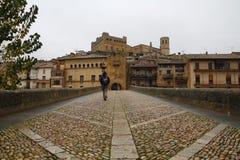 Villaggio di Valderrobres nell'Aragona, Spagna Fotografia Stock