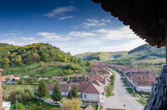 Villaggio di Valea Viilor Fotografia Stock