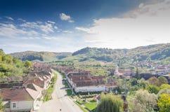 Villaggio di Valea Viilor Immagine Stock