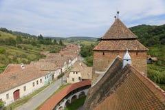 Villaggio di Valea Viilor, la Transilvania, Romania Immagini Stock
