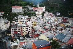 Villaggio di Vernazza, Italia Fotografie Stock Libere da Diritti