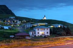 Villaggio di Vik, Islanda Immagini Stock Libere da Diritti