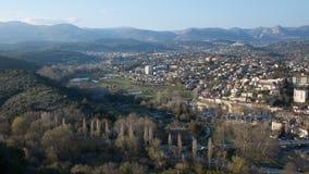 Villaggio di Villeneuve Loubet fotografia stock