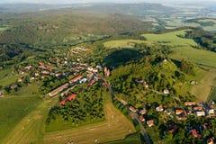 Villaggio di Vysker, colpo aereo Fotografia Stock Libera da Diritti