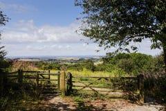 Villaggio di Watlington osservato da una collina vicina Fotografie Stock
