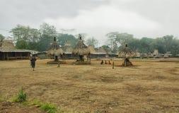 Villaggio di Wogo, isola del Flores Immagini Stock Libere da Diritti