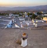 Villaggio di Yegen all'aumento nelle montagne di Alpujarras, Granada, Fotografia Stock