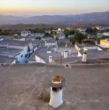 Villaggio di Yegen all'aumento nelle montagne di Alpujarras, Granada, Immagine Stock