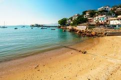 Villaggio di Yung Shue Wan sull'isola di Lamma, Hong Kong Fotografia Stock Libera da Diritti