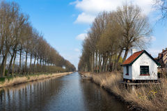 Villaggio e canale di Damme immagini stock libere da diritti