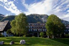 Villaggio e montagne di Kaninska immagini stock libere da diritti