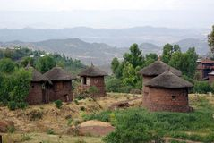 Villaggio in Etiopia Fotografia Stock Libera da Diritti