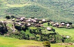 Villaggio etiopico Fotografie Stock