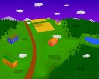 Villaggio in foresta Fotografia Stock