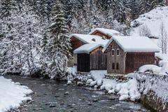 Villaggio francese nell'inverno Immagine Stock Libera da Diritti