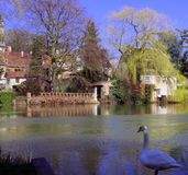 Villaggio francese, vista pacifica Immagine Stock