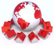 Villaggio globale Fotografie Stock