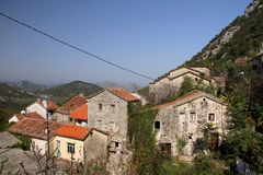 Villaggio Godinje Fotografia Stock Libera da Diritti