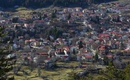 Villaggio Grecia di Samarina Immagine Stock
