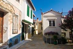 Villaggio greco Immagine Stock