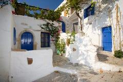 Villaggio greco Fotografia Stock
