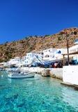 Villaggio greco della linea costiera di Loutro, Creta Fotografia Stock