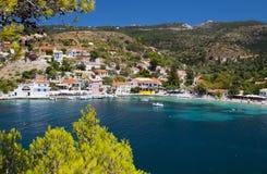 Villaggio greco di Tradiotinal a Kefalonia Fotografia Stock Libera da Diritti