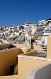 Villaggio greco pieno di sole dell'isola Fotografie Stock Libere da Diritti