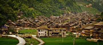 Villaggio in Guizhou, Cina Fotografie Stock