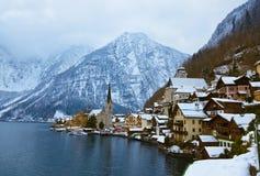 Villaggio Hallstatt sul lago - Salisburgo Austria Fotografia Stock