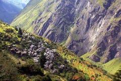 Villaggio Himalayan Fotografia Stock Libera da Diritti