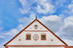 Villaggio Holasovice dell'Unesco fotografia stock libera da diritti