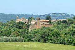 Villaggio idillico, Toscana Immagini Stock Libere da Diritti