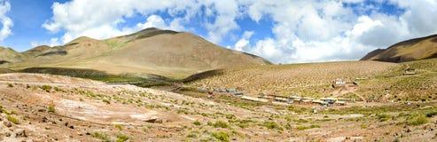 Villaggio indiano nelle Ande Fotografia Stock