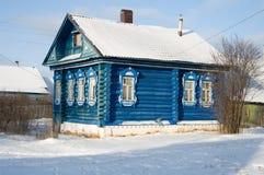 Villaggio in inverno Immagini Stock