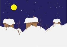 Villaggio in inverno Fotografia Stock