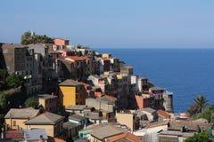 Villaggio italiano dell'oceano Fotografie Stock Libere da Diritti