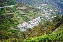 Villaggio italiano della valle Immagine Stock Libera da Diritti