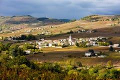 Villaggio Julienas Immagini Stock