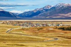 Villaggio Kurai di Altai Immagine Stock