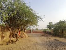 Villaggio in Liaquatpur, Pakistan immagine stock